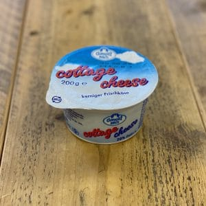 a pack of cottage cheese